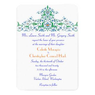 Persian Turkish Arabian Moroccan Wedding or Party Invitations