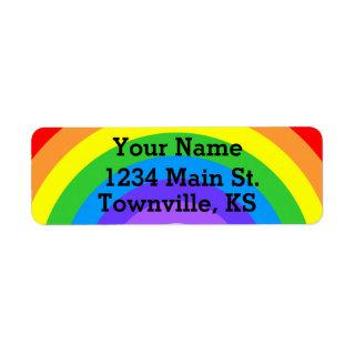 Personalizable Bright Rainbow Label