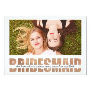 Personalize Photo Will You Be My Bridesmaid Invitations