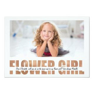 PERSONALIZE PHOTO WILL YOU BE MY FLOWER GIRL Invitations