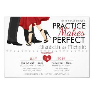 Personalize Practice Make Perfect Rehearsal Dinner Invitation
