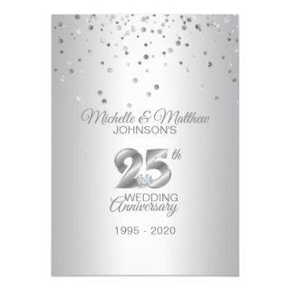 Personalized 25th Silver Wedding Anniversary Invitations