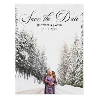 Personalized 2 Photo (1+1) Wedding Save the Date Postcard