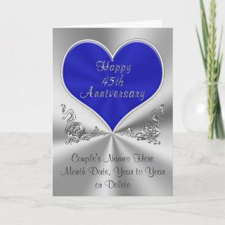 Personalized 45th Wedding Anniversary Card