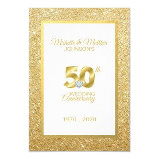 Personalized 50th Golden Wedding Anniversary Invitations