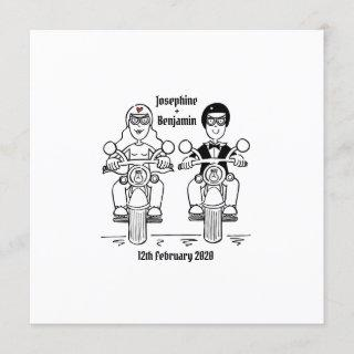 Personalized Biker Motorcycle Wedding Invitations