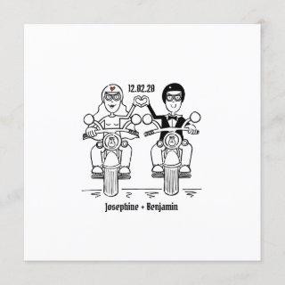 Personalized Biker Motorcycle Wedding Invitation