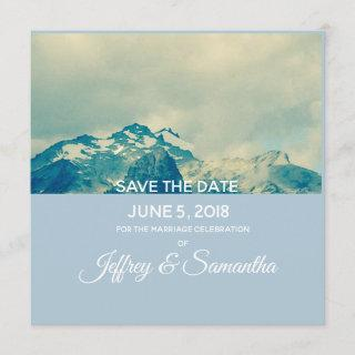 Personalized Mountain save the date card