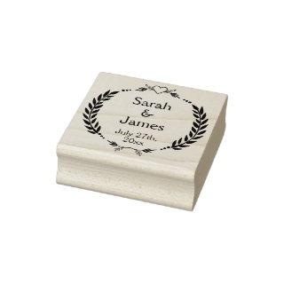 Personalized Names and Wedding Date Rubber Stamp