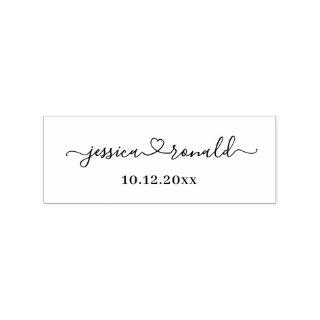 Personalized Newlyweds Names + Wedding Date Stamp