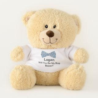 Personalized Ring Bearer Proposal, Will You Be My Teddy Bear