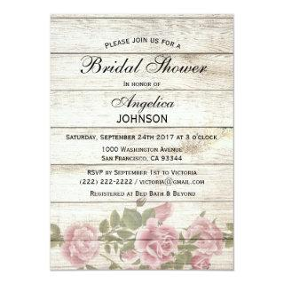 Personalized Rustic Chic Vintage Bridal Shower Invitation