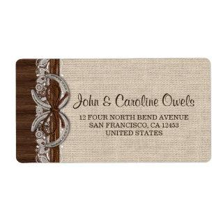 Personalized Rustic Country Western Horseshoe Label