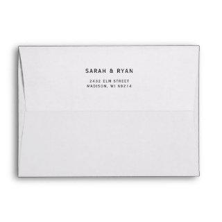 Personalized Wedding Return Address Envelope