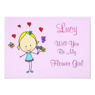 Personalized Will You Be My Flower Girl Invitations