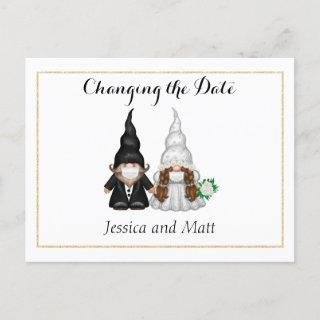 Photo Changing the Date Postcard With Fun Gnome