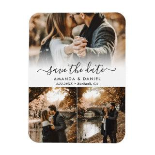 Photo Collage Wedding Save The Date Magnet