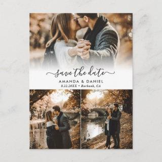Photo Collage Wedding Save The Date Postcards