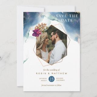 Photo, Geometrical Celestial Mystic Garden Wedding Save The Date