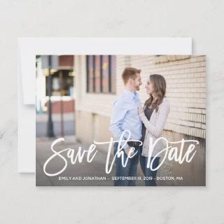 Photo Save the Date Card Horizontal, Modern Script