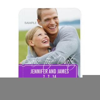 Photo Save the Date Magnets Purple