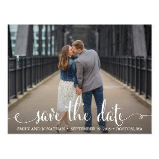 Photo Save The Date Postcard, Landscape Picture Postcard