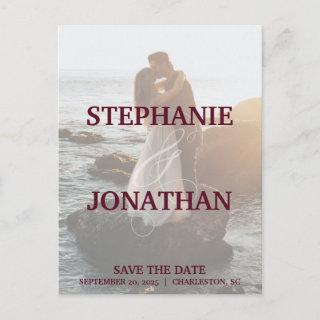Photo Save The Date Postcards with Large Names