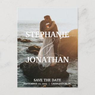 Photo Save The Date Postcards with Names