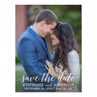 Photo Wedding Save The Date Magnets, One Picture Magnetic Invitations
