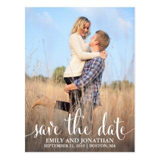 Photo Wedding Save The Date Postcard, One Picture Postcard
