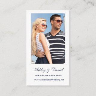 Photo Wedding Website Insert Card  - Choose Colors