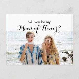 Photo Will You Be My Maid of Honor Proposal Card