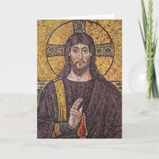 Picture of Jesus Mosaic Religious blank card
