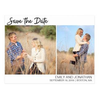 Picture Save The Date Postcard, Two Photos Postcard
