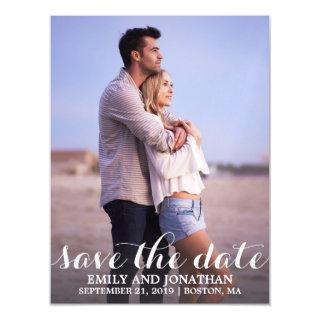 Picture Wedding Save The Date Magnets, One Photo Magnetic Invitation