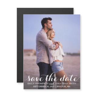 Picture Wedding Save The Date Magnets, One Photo Magnetic Invitations