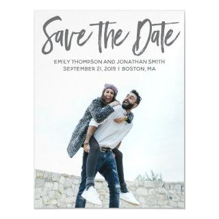 Picture Wedding Save The Date Magnets, Portrait Magnetic Invitations