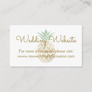 Pineapple Aloha Wedding Website Card Insert
