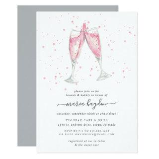Pink Champagne | Brunch & Bubbly Shower Invitation