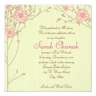 Pink Flower Invitations