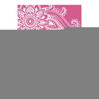 Pink Indian Paisley Wedding Invitations
