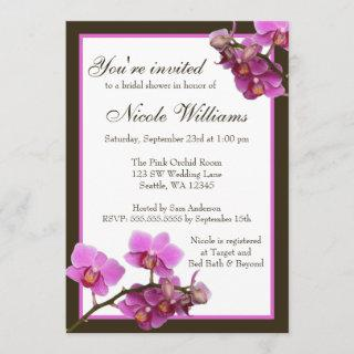 Pink Orchid Flowers Bridal Shower
