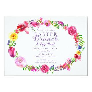 Pink & Purple Spring Flowers Floral Modern Invitations