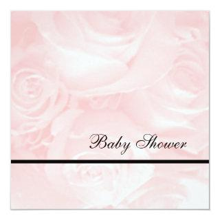 Pink Roses-Baby Shower Invitations