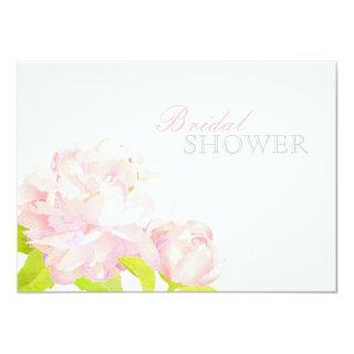 Pink Watercolor Peony Floral Bridal Shower Invitations