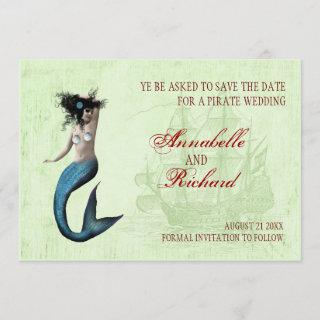 Pirate Wedding Save The Date Cards