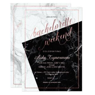 PixDezines Bachelorette Weekend Faux Rose Gold Invitation