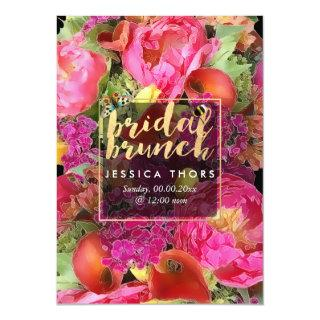 PixDezines Bridal Brunch Peonies/Calla Lily Invitation