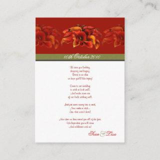 PixDezines BURNT ORANGE CALLA LILY INVITATIONS