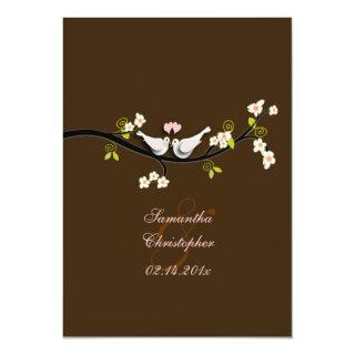 PixDezines doves/love birds/diy background color! Invitation